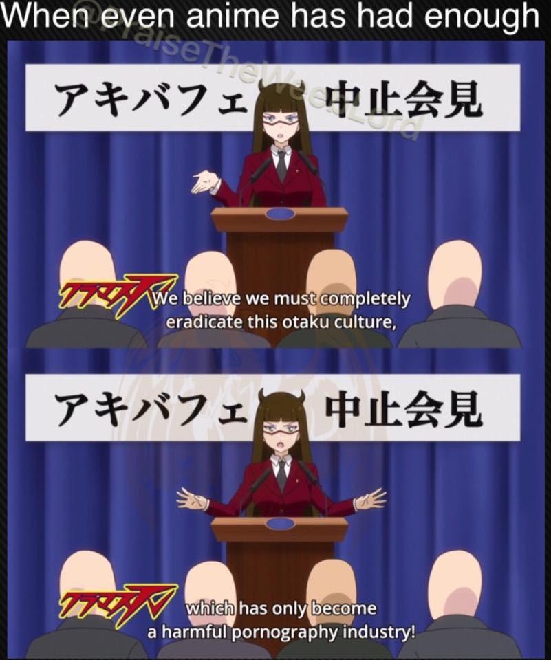 Its True. . hen even mime has had enough eradicate this otaku culture, ii If a harmful pornography industry!. Make otakus great again Anime manga otaku Porn