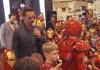 Tony Stark judging an Iron Man contest