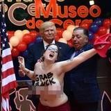 Trump wax figure triggers a feminist.