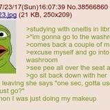 Anon tastes oneitis' pee