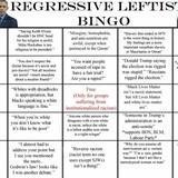 Regressive Leftist Bingo