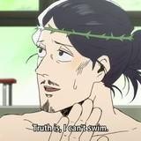 Jesus can't swim