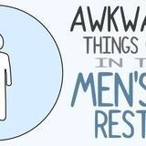 Awkward moments int he men's restroom