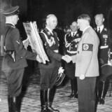 Himmler presents Hitler some stolen Jewish art for his birthday