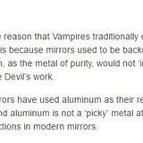Vampires 'n mirrors
