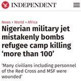 Nigerian Jet Blows up Refugees