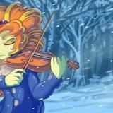 *Heavy violin solo*