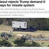 Seoul Rejects Trump