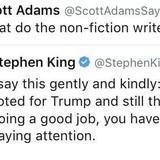 Stephen King BTFO by Scott Adams.