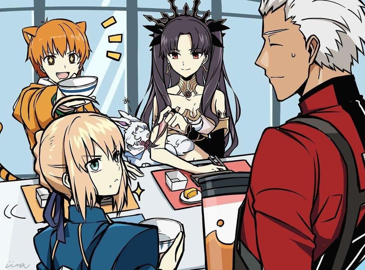 A Family Reunited. .. Avalon pairing for life. Anime manga fate Archer saber thosaka toga