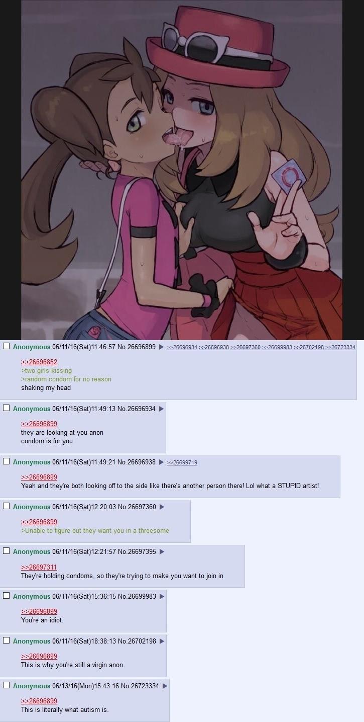 Anon Dosent Get The Message. stole mouses meme   [trigger Videogames Lewd Pokemon serena shauna condom