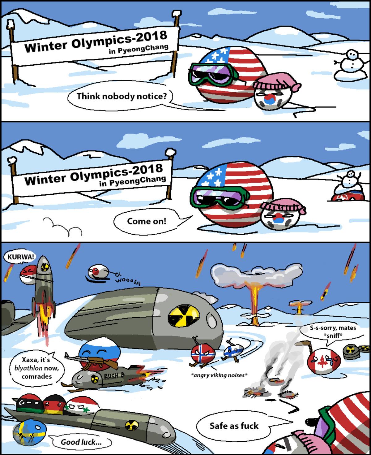 Atomic Winter Olympics 2018. . Xaxa, it' s edicts comrades Sports korea Olympics countryballs