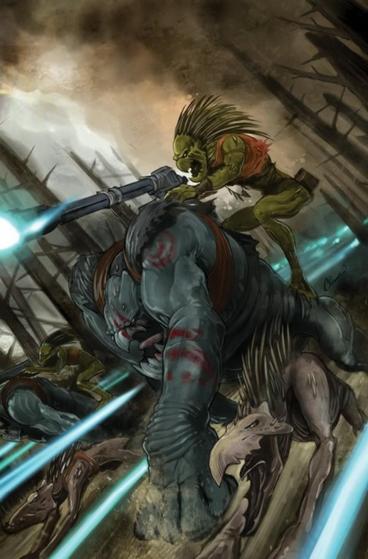 If you can beat 'em, eat 'em. . Warhammer 40K warhammer Kroot