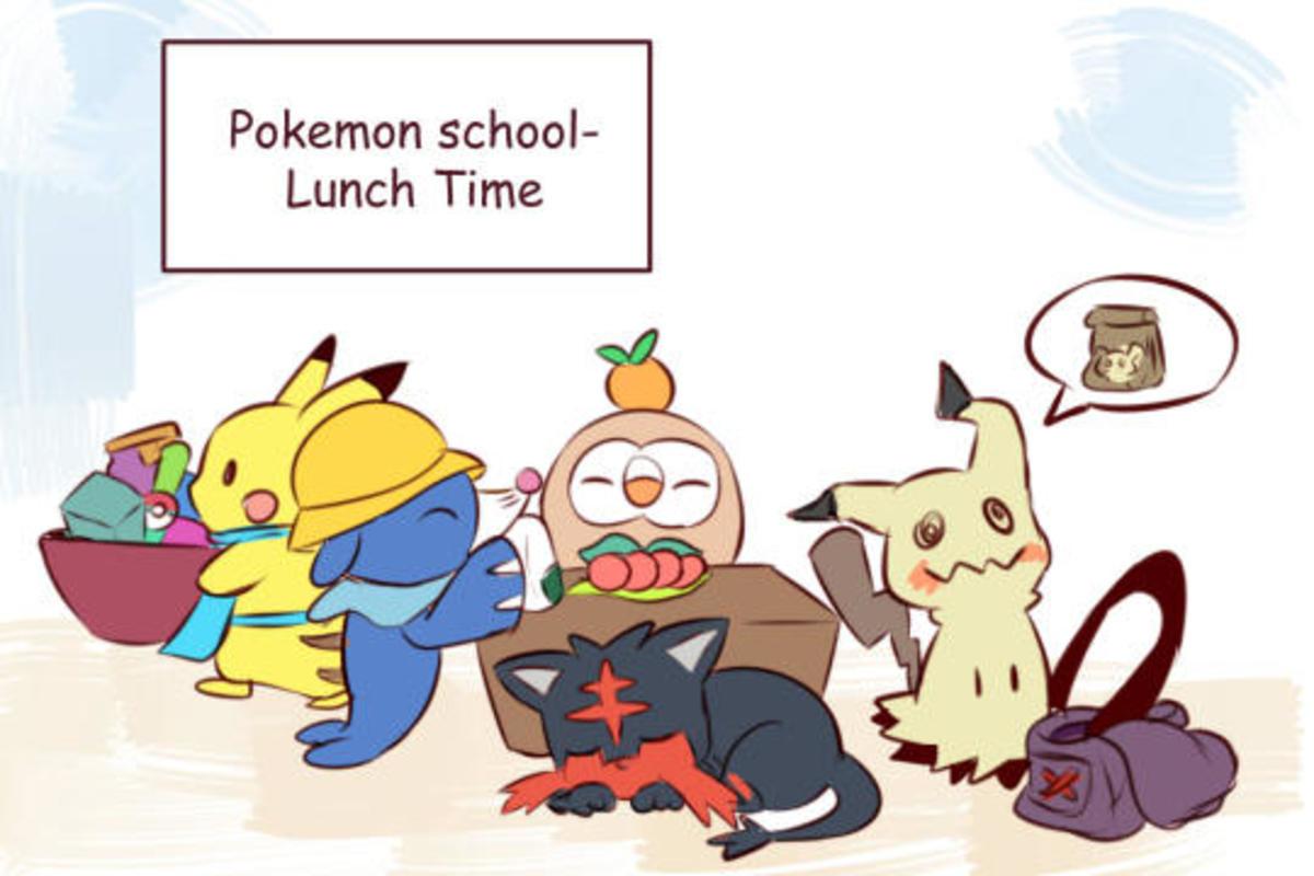 Lunch Time. rainyazurehoodie.tumblr.com/. Pokemon school- Lunch Time Lunch Time rainyazurehoodie tumblr com/ Pokemon school-