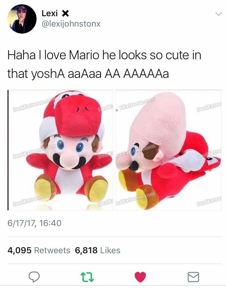 Mario. . Lexi X as Haha I love Mario he looks so cute in that 3/ osha A/ A 4, 095 Retweets 6, 313 Likes Mario Lexi X as Haha I love he looks so cute in that 3/ osha A/ A 4 095 Retweets 6 313 Likes