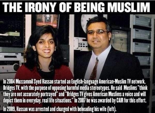 "Muslim Irony. kek, look up ""Muzzammil Hassan"" moderate Muslim --> flip switch --> radical Muslim. Muslim Irony kek look up ""Muzzammil Hassan"" moderate --> flip switch radical"