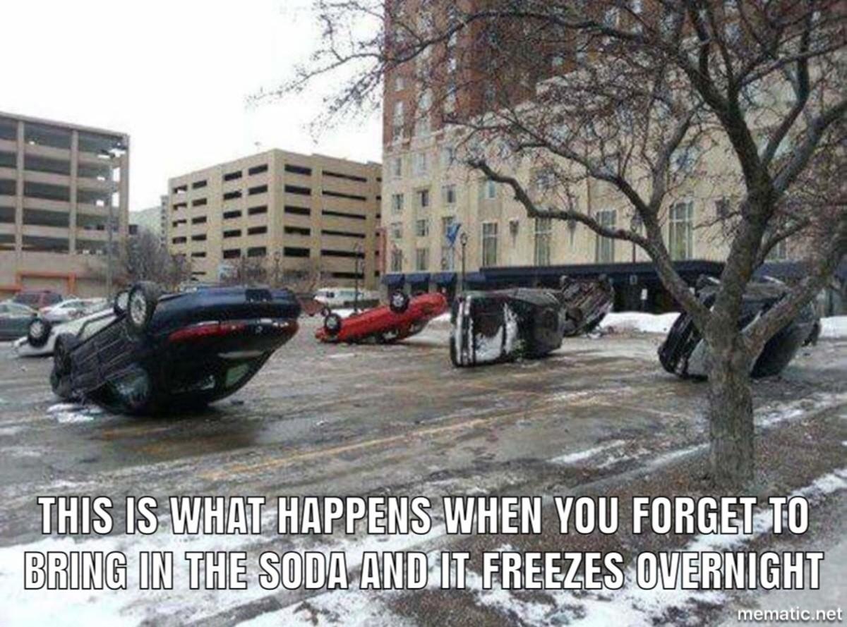 PSA. . as Li' Frozen soda car