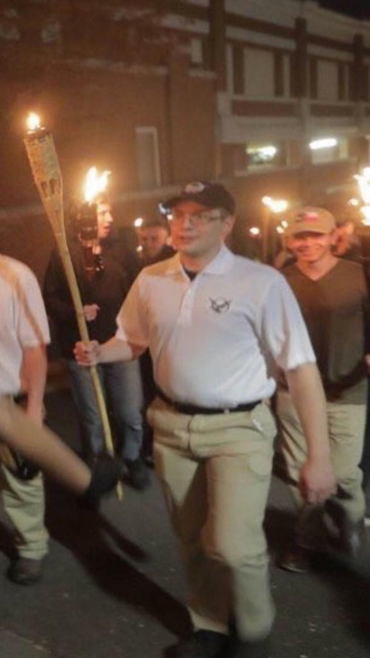 """The """"Ubermensch"""". .. This was an Alt-Right protest, not a Nietzsche fan club meetup. The """"Ubermensch"""" This was an Alt-Right protest not a Nietzsche fan club meetup"""