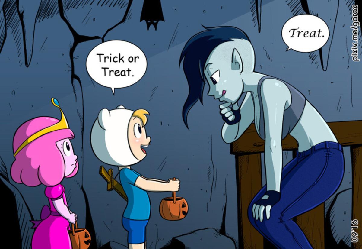 Treat > trick. .. cough /ss/ cough Treat > trick cough /ss/