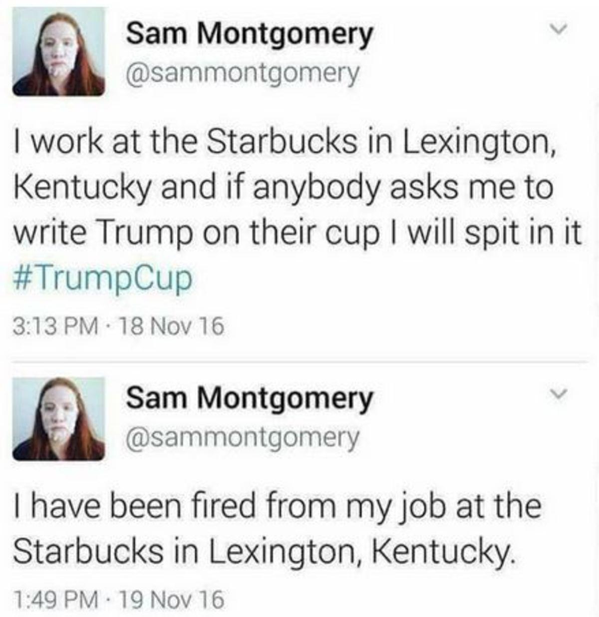 Trump Strikes Again. .. Serves her right. Cunt. trump