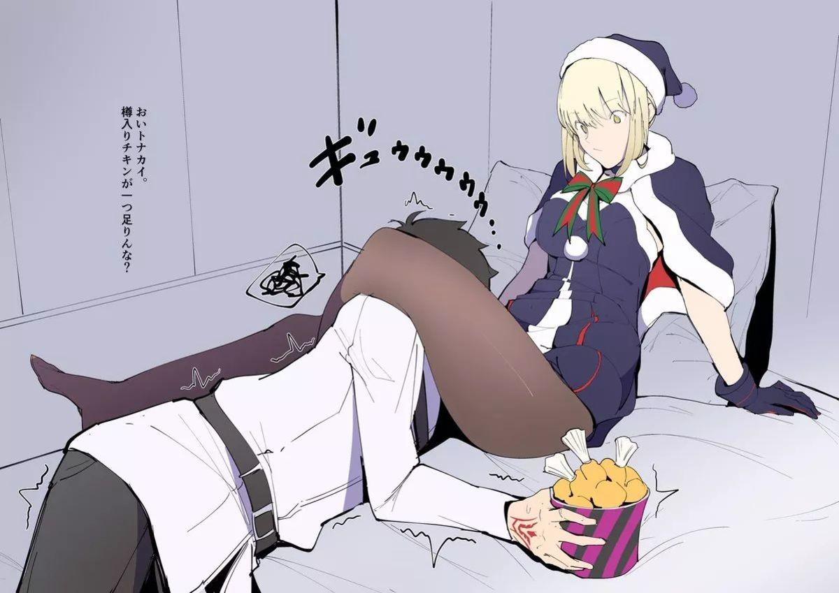 Yo Let Me Get Some of These Thig-. twitter.com/zikataro/status/931130902.... REE Anime manga saber alter thicc fatego KFC