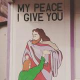 Lil hand Jesus given his pea-ni-ce
