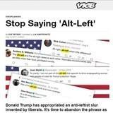"The Alt-Left hates the name ""Alt-Left"""