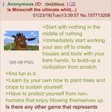 Anon explains minecraft