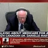 Bernie Sanders with Dr. Danielle Martin